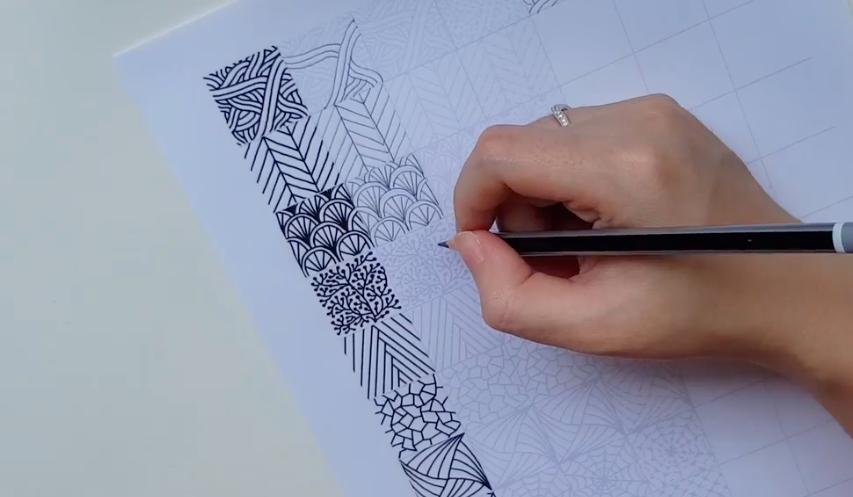 patterns drawn