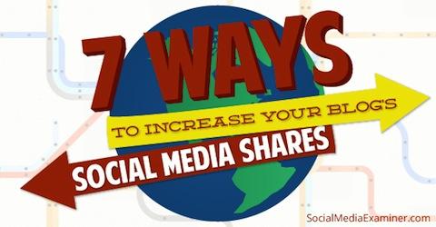 ソーシャルメディアでブログをシェアして貰う7つの方法とは!?