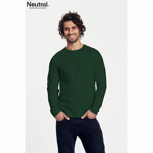 Neutral Long Sleeve Organic Men's T-shirt