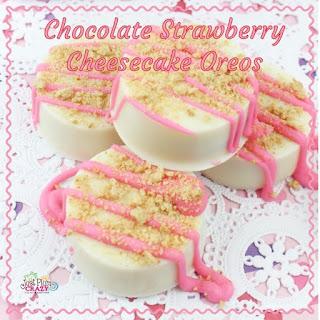Chocolate Strawberry Cheesecake Oreos.