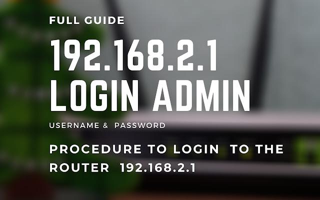 192.168.2.1 Login Admin