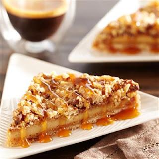 Almond Caramel Cheesecake Triangles.
