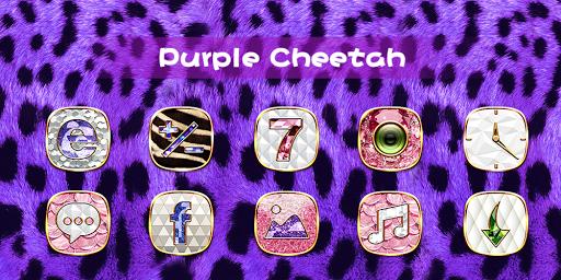 Purple Cheetah Theme