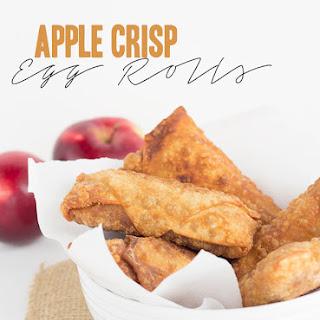 Apple Crisp Egg Rolls