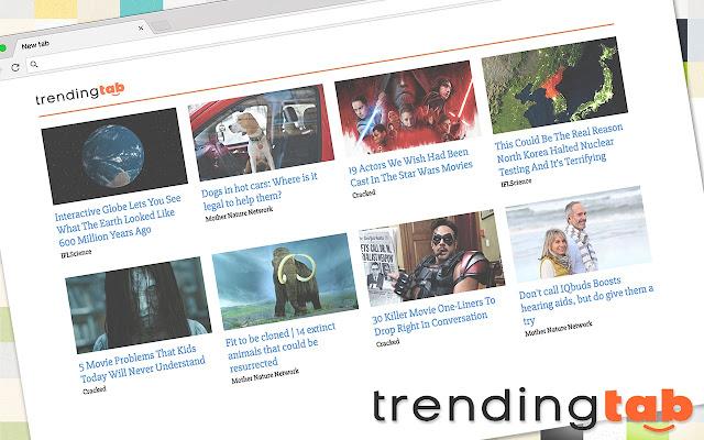 Trending Tab Homepage - Viral news tab