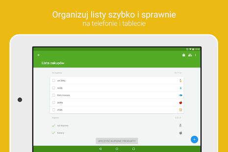 Wygodna lista zakupów Listonic Screenshot
