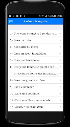 Parlons Français Android App Screenshot