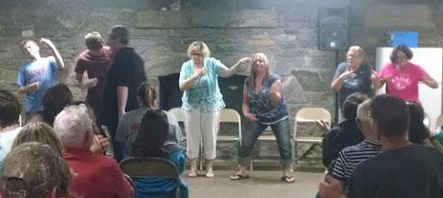 Photo: Steve Wronker's Hypnosis Show Victims..err, volunteers