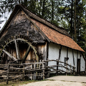 old water mill by Franky Vanlerberghe - Buildings & Architecture Public & Historical ( water mill, bokrijk belgium, old building,  )