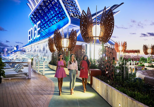 When evening sets in, head to the Rooftop Garden to socialize in a fresh-air setting on your Celebrity Edge class cruise.