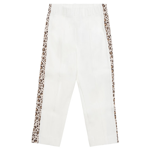 Primary image of Monnalisa Ivory Animal Print Leggings