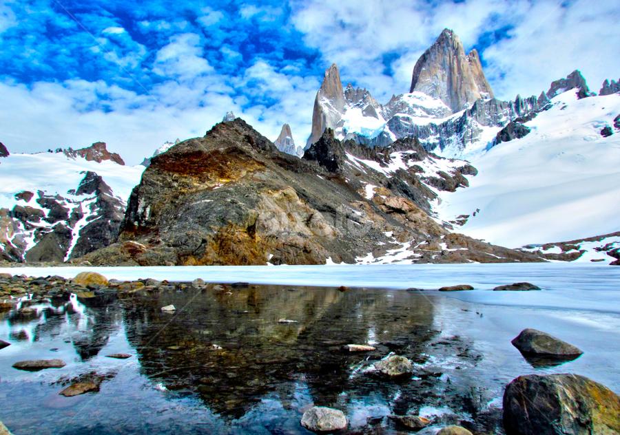 Fitz Roy, Laguna de Los Tres by Fabio Ferraro - Landscapes Mountains & Hills ( laguna, patagonia, chaltén, fitz roy, laguna de los tres )