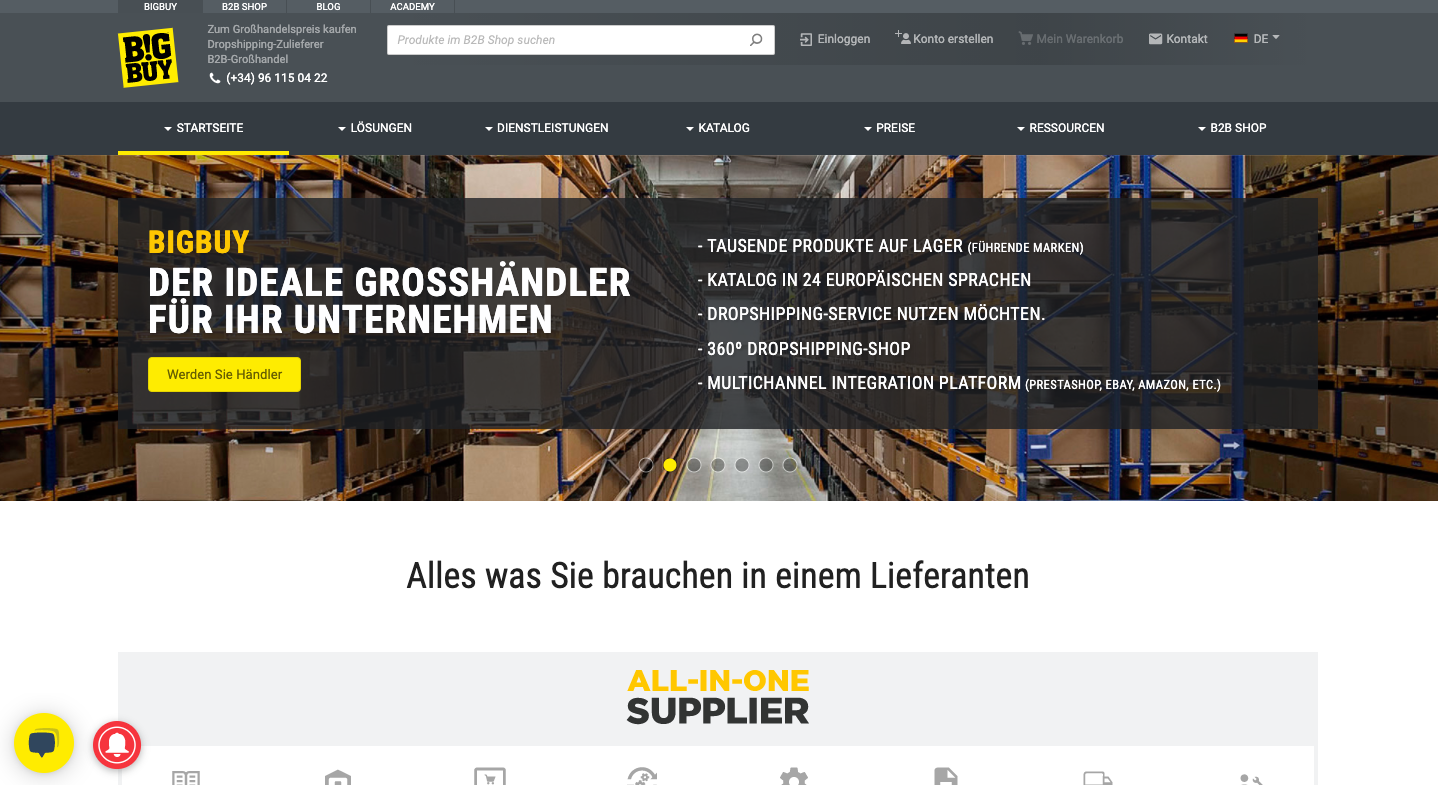 Big Buy Dropshipping Großhändler