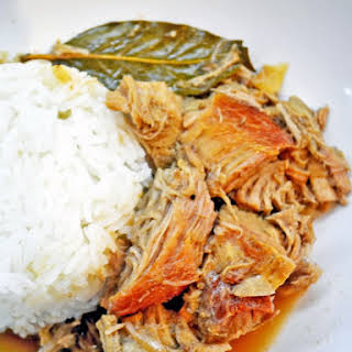 Lechon Paksiw aka Roast Pork Stewed in Sweet Sauce.