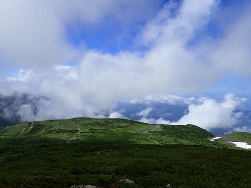石川県側の天気は回復(弥陀ヶ原)