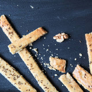 Butter and Caraway Seed Breadsticks.
