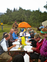 Photo: Thursday evening - Getting assignments done before dinner and fun.  That's the last one.  To see more of my hiking photos, go to www.panoramio.com/user/5794447