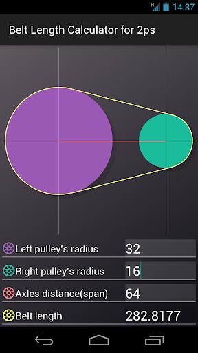 Belt Length Calculator for 2ps