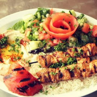 Turkish Chicken Shish Kebab.