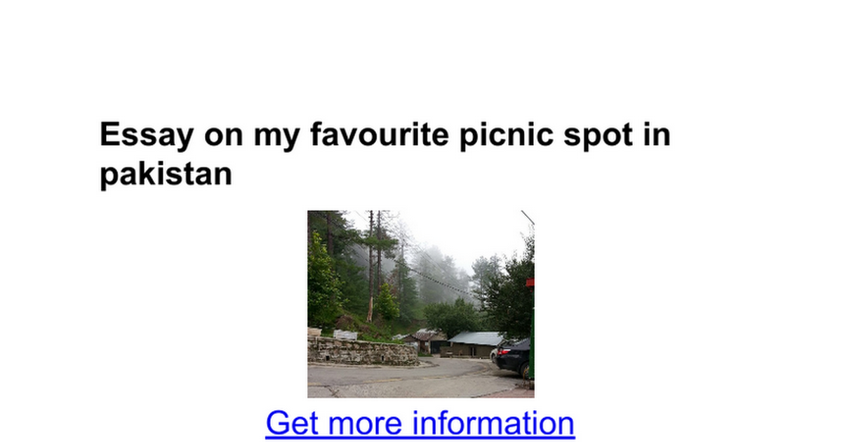 essay on my favourite picnic spot in google docs