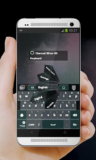 無料个人化Appのチャコールシルバー GO Keyboard|記事Game