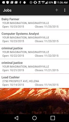 android Montana Employment Recruiter Screenshot 0