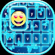 Neon Blue Emoji Keyboard 2.4 Icon