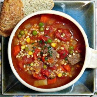 Vegetable Beef Barley Soup - (Slow Cooker) - Hearty Winter Meal.