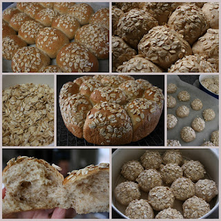 Oatmeal Whole Wheat Malt Syrup Pan Rolls Recipe