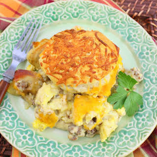 Biscuit and Gravy Casserole.