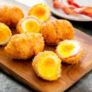 Deep Fried Bacon Wrapped Eggs Recipe