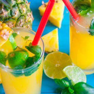 Tropical Lemon-Lime Soda Punch.