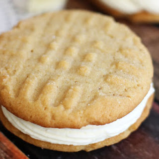 Peanut Butter White Chocolate Sandwich Cookies.