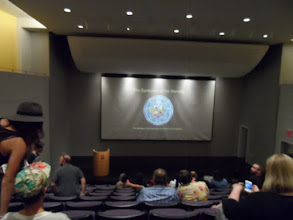 Photo: There was a lecture on the symbolism of the Mandala.