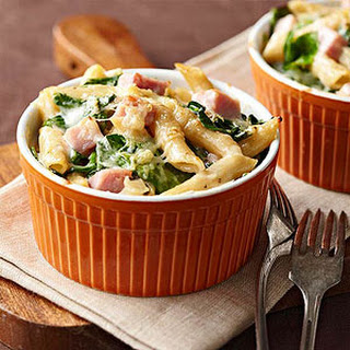 Ham and Spinach Two-Cheese Pasta.
