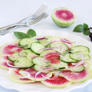 Asian Watermelon Radish Salad.