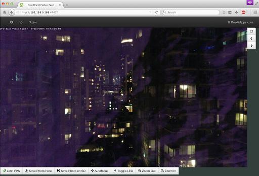 DroidCamX Wireless Webcam Pro Aplicaciones para Android screenshot