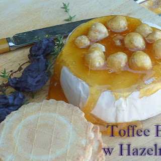Toffee Brie with Hazelnuts