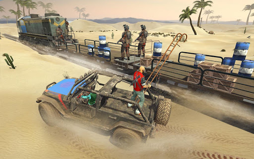 Mission Counter Attack Train Robbery Shooting Game apkpoly screenshots 2