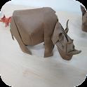 Folding Origami Animal icon