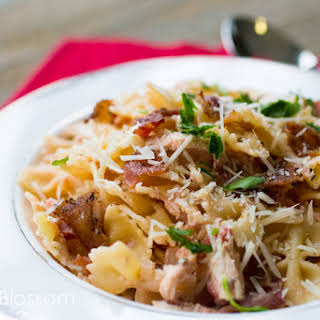Creamy Chicken & Cracked Peppered Bacon Pasta.