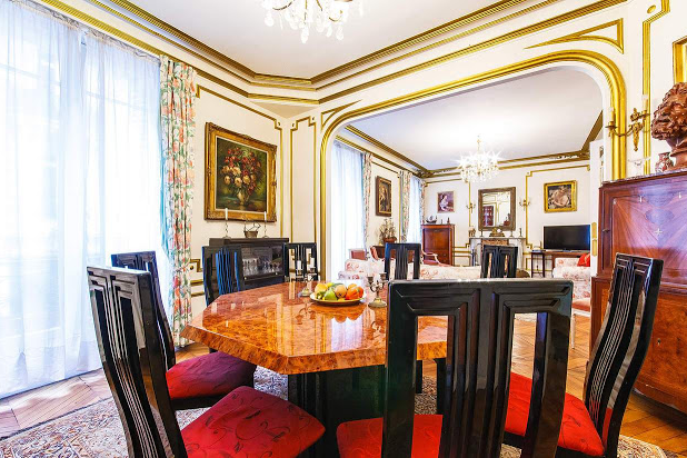 dining room Champs Elysees apartmennt