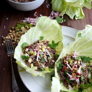 Thai Pork Salad Cabbage Wrap