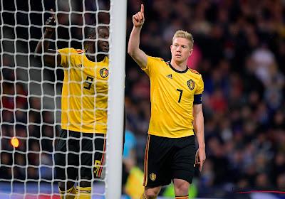 De Rode Duivels blikken Schotland in met 0-4 en leiden groep I met 18 op 18