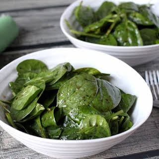 Super Simple Spinach Salad.