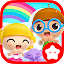 Happy Daycare Stories – School playhouse baby care icon
