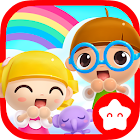 Happy Daycare Stories - School playhouse baby care icon