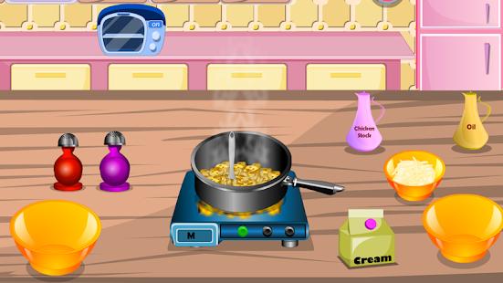 dívčí hry vaření fast food - náhled