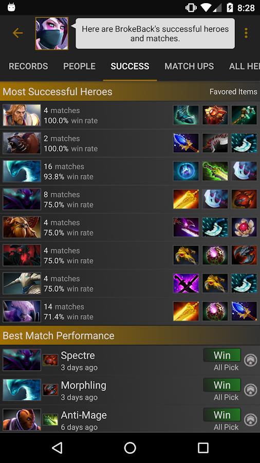 Dota matchmaking stats