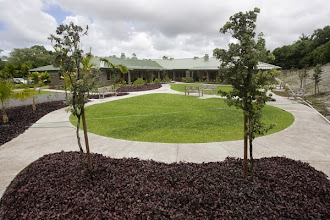 Photo: Garden Walkway. It would not be Hawai`i without a lush garden for patients to enjoy.